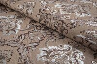 Жаккард Flower damask brown