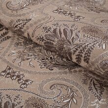 Жаккард Flower paisley-brown